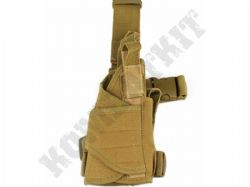 Right Leg Gun Holster Fully Adjustable for Airsoft Air Pistols & BB Handguns Tan Desert